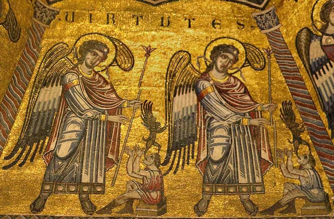 Le Virtù nei mosaici del battistero di Firenze